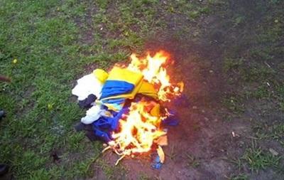 Милиция задержала 19-летнюю харьковчанку за сожжение флага Украины