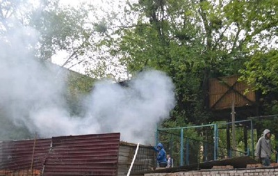 На Майдане произошел пожар