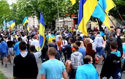В Днепропетровске прошло шествие за единство Украины