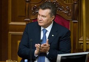 Янукович в Раде: Наш путь в Евросоюз безальтернативен