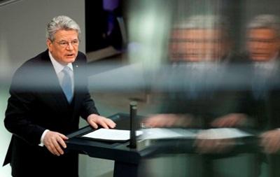 Президент Германии призвал к деэскалации конфликта в Украине