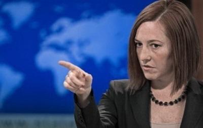 США ждут от России конкретных действий по деэскалации ситуации в Украине