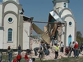 В Тернопольской области обрушилась церковь Святых апостолов Петра и Павла