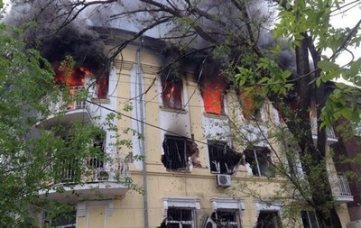 В Мариуполе сожгли отделение милиции