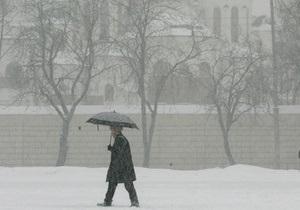 Прогноз погоды: в Украине мокрый снег и гололед