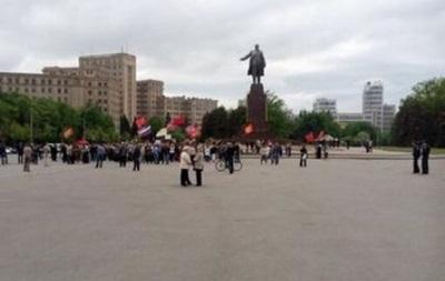 В центре Харькова митингуют пророссийские активисты