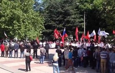 В Симферополе митинговали в поддержку референдума на Донбассе