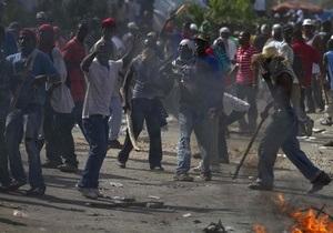 Жители Гаити устроили беспорядки, не согласившись с результатами выборов