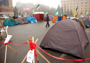 В Харькове свернули палаточный городок