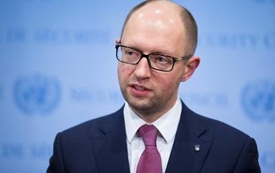 Яценюк: Первая подпись президента должна появиться под Соглашением с ЕС
