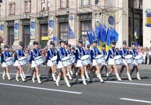 новости Киева - День Европы - Парад барабанщиц открыл День Европы в центре Киева