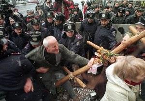 Годовщина Майдана: в милиции объяснили причину задержании пятерых участников митинга