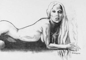 Рисунок обнаженной Lady GaGa выставят на аукцион