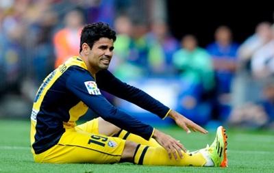 Нападающий Атлетико Диего Коста получил разрыв подколенного сухожилия