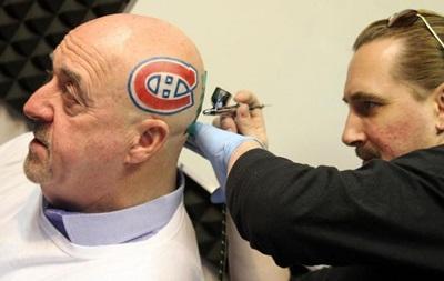 Мэр канадского города сделал на голове татуировку с эмблемой клуба NHL