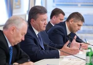 Янукович заявил, что Украина работает над выполнением критериев для подписания Соглашения об ассоциации