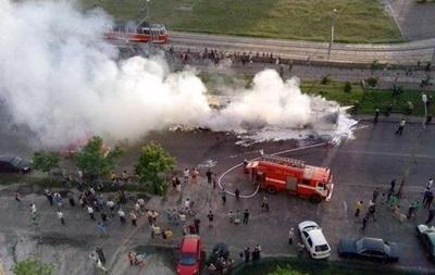 МВД назвало причину пожара в автобусе, сгоревшего на Троещине