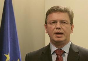 Фюле рассказал Яценюку о евроинтеграционных перспективах Украины