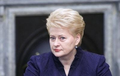 Грибаускайте останется на посту президента Литвы на второй срок