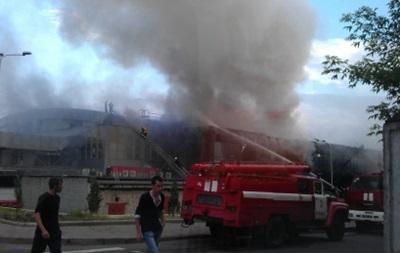 В Донецке во дворце спорта произошел пожар