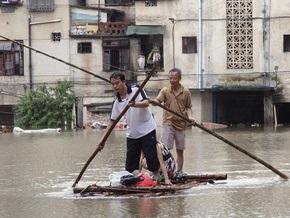 Жертвами наводнения в Китае стали 16 человек