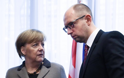 Яценюк встретится с Меркель