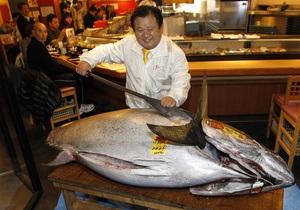 На аукционе в Токио голубой тунец был продан за $1,75 млн