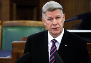 Президент Латвии распустил парламент