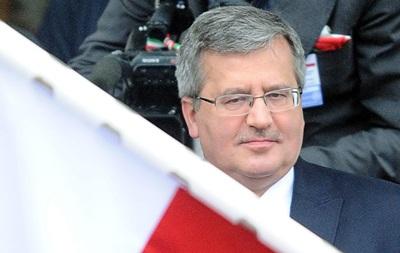 Коморовский приедет на инаугурацию Порошенко