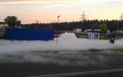 В Киеве пожарные ликвидировали утечку газа на заправке
