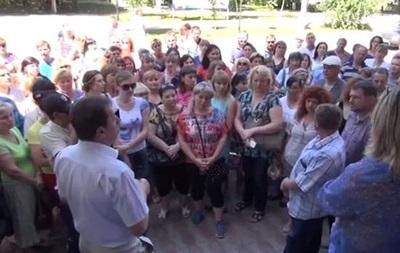 В Луганске прошел митинг под университетом МВД