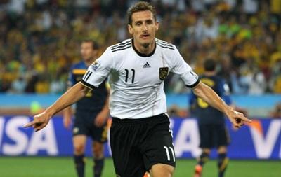 Клозе стал лучшим бомбардиром в истории сборной Германии
