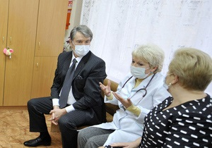 Ющенко напоминает правительству о необходимости вакцинации населения