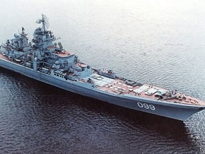 В Атлантике  произвел артиллерийские стрельбы российский атомный крейсер