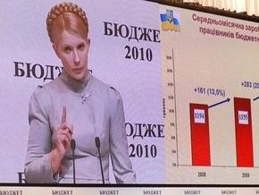 Фотогалерея: Тимошенко похвасталась своим бюджетом