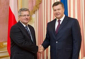 Коморовский надеется, что октябрьские выборы приблизят Украину к Европе