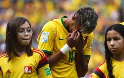 Неймар разрыдался во время гимна Бразилии на ЧМ-2014