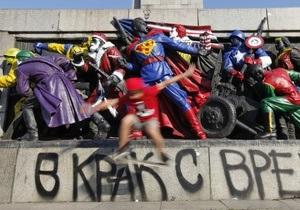 Памятник Советской армии в Софии снова подвергся арт-терроризму