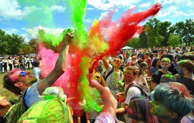 В Киеве пройдет фестиваль красок Холи