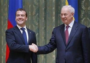 Азаров сегодня встретится с Медведевым, чтобы обсудить  торговые войны