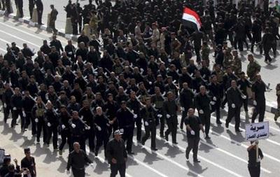 Шиитские боевики прошли маршем по центру Багдада