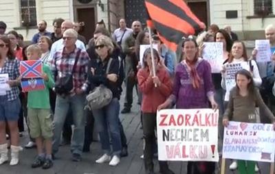 Чешские коммунисты митинговали против  фашизма в Украине