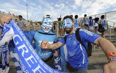 Фотогалерея. Счастливые греки и смешные японцы: Лучшие кадры фанатов на ЧМ-2014