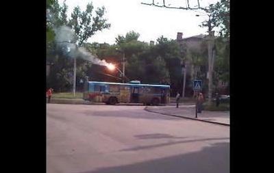 В Краматорске загорелся троллейбус