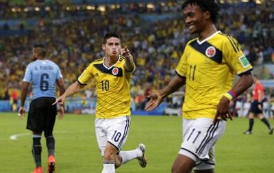Чемпионат мира: Колумбия легко обыгрывает Уругвай в 1/8 финала