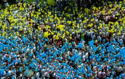 Киевский флешмоб за единую Украину попал в Книгу рекордов