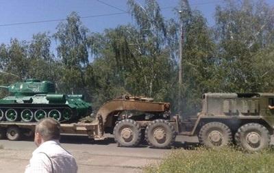 В Дружковке  угнали  танк-экспонат