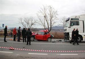 На трассе Киев - Чоп образовался многокилометровый затор из-за ДТП с участием милиционера