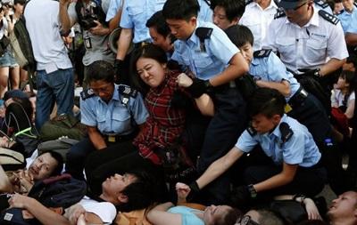 Более 500 демонстрантов задержаны в центре Гонконга