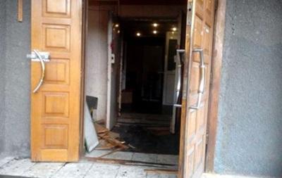 В центре Донецка разгромили отделение ПриватБанка